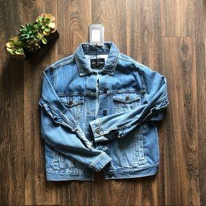 [Who What Wear] NWT ruffle denim jacket